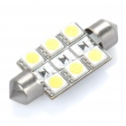 41mm 0,5 W 6000K 60-Lumen 6-LED White Light Car Leselampe (DC 12V)