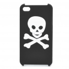 Stylish Skull Pattern Protective Case Cover for Iphone 4S - Black + White