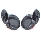 Snail Style Car Electric Horn Auto Parts - Black + Red (9~14V/Pair)