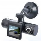 "Dual-Objektiv 3MP CMOS Car DVR Camcorder w / IR Night Vision / TF (2,0 ""TFT LCD)"