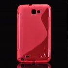 PC Protective Case for Samsung i9220 - Red
