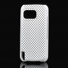 Super Slim Ventilating Net Protecting Case for Nokia 5800 - White