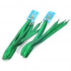 Glittering Flat Shoelaces - Green (2-Pair Pack)