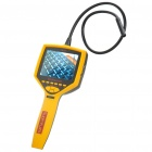 "SUPEREYES Rechargeable 3.5"" LCD 300KP 50X Digital Borescope w/ 4-LED / TF Slot - Yellow"