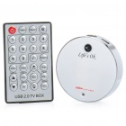 USB 2.0 TV Capture Box w/ Remote Control - White (NTSC / PAL)