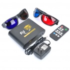 Mini 2D to 3D HD Video Converter w/ 3D Glasses / Remote Control - Black