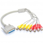 VGA 25 Pin Female to 8 BNC Female VGA Breakout Cable (45cm)