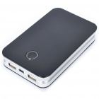 Rechargeable Dual USB 10000mAh Emergency Battery Pack w/ Adapter for Cell Phone + More