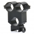 24mm Three-Hole Flashlight Sight Gun Mount - Black