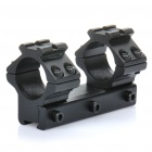 11mm Rail 25mm Diameter Aluminum Alloy Gun Bracket Mount - Black