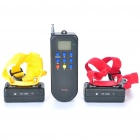 "1.1"" LCD USB Rechargeable 1-to-2 Remote Pet Training Collar - Black"
