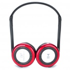 Folding Bluetooth Stereo Headphone + Sport MP3 Player w/ FM & TF Slot - Red