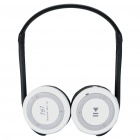 Folding Bluetooth Stereo Headphone + Sport MP3 Player w/ FM & TF Slot - White