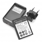Replacement 3.7V 2600mAh Battery w/ Charging Cradle / EU Plug Adapter for Samsung Galaxy Note/i9220