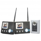 "2.4GHz 3.5"" Wireless Digital Video Door Phone System Set w/ Night Vision / 6-LED 300KP CMOS Camera"