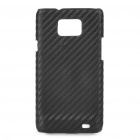 Protective Carbon Fiber PC Back Case for Samsung Galaxy i9100 - Black