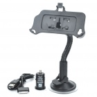 Car Swivel Mount Holder + Car Charger + USB Data Charging Cable for iPhone 4S