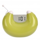 "U Shaped FM Radio Speaker + Clock w/ 1.3"" LCD Display - Green (3 x AAA)"