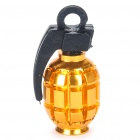Grenade Shaped Motorcycle/Car Tire Valve Dust Cap Cover - Gold (4PCS)