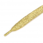 Glittering Flat Shoelaces - Yellow (2-Pair Pack)