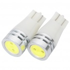 T10 0.5W 30LM 6500K Car White LED Light Bulbs (DC 12V / Pair)