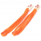 Polyester Yarns Material Reflective Shoelaces - Orange (2-Pair Pack)