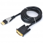 Z-TEK DP DisplayPort Male to DVI Male Video Audio Converter Cable (1.8m)
