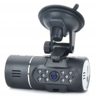 "720P 3.0MP + 300KP Dual-Lens Car DVR Camcorder w/ IR Night Vision / 2 x TF / Mini USB (2.0"" TFT LCD)"