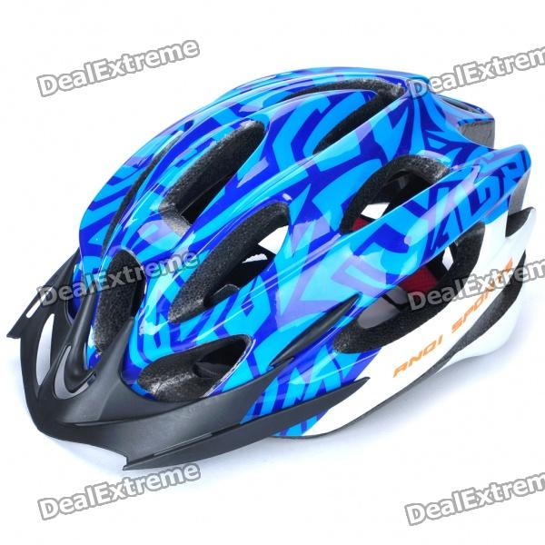 Cool 15 Vents Sports Cycling Helmet - Blue + White (Size-54~58cm)