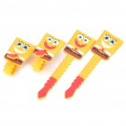 Spongebob Squarepants Style Cable Cord Holder Wire Winder - 4 Pieces/Pack