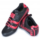 Stlyish Bike Cycling Carbon Fiber Practical Shoes- Red + Black (EUR Size-40)