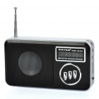 "USB Rechargeable 1.3"" Display MP3 Player Speaker w/ TF / USB / FM - Black + Silver"