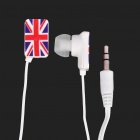 UK National Flag Pattern In-Ear Earphone - Red + Blue + White (3.5mm-Jack / 102cm-Cable Length)