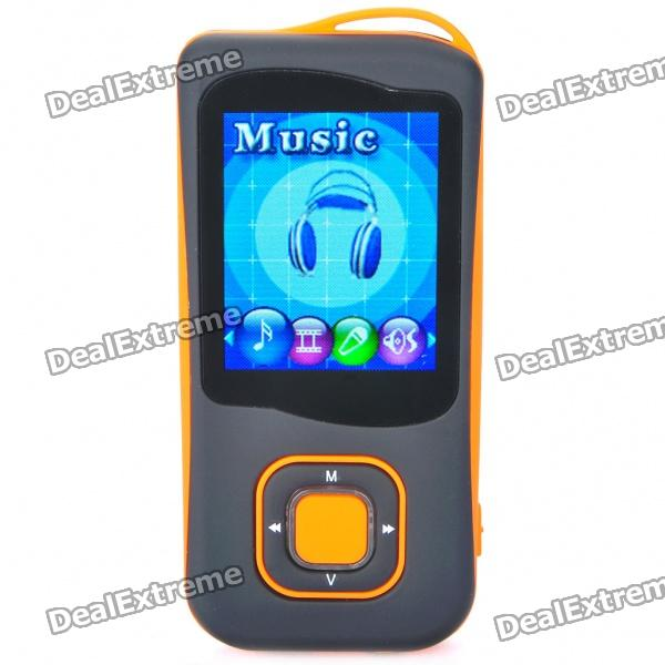 "1.8"" LCD Rechargeable MP4 Player w/ FM - Orange (4GB)"