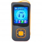 1.8&quot; LCD Rechargeable MP4 Player w/ FM - Orange (4GB)