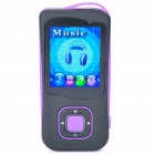 "1.8"" LCD Rechargeable MP4 Player w/ FM - Purple (4GB)"
