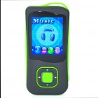1.8&quot; LCD Rechargeable MP4 Player w/ FM - Green (4GB)