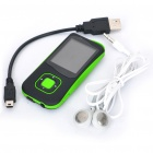 "1.8"" LCD Rechargeable MP4 Player w/ FM - Green (4GB)"
