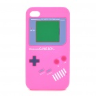 Game Boy-Stil Protective Silicone Case für iPhone 4 - Pink