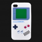 Game Boy-Stil Protective Silicone Case für iPhone 4 - Weiss