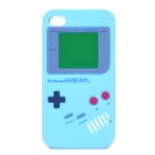 Game Boy-Stil Protective Silicone Case für iPhone 4 - Sky Blue
