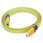 1080P V1.4 HDMI Male to Male Flat Cable - Yellow + Black (1.5M Length)