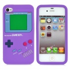 Game Boy-Stil Protective Silicone Case für iPhone 4 - Purple