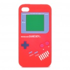 Game Boy-Stil Protective Silicone Case für iPhone 4 - Red