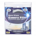NEW-VIEW CPL Polarizer Lens Filter (62mm)