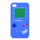 Game Boy-Stil Protective Silicone Case für iPhone 4 - Deep blue