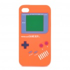 Game Boy-Stil Protective Silicone Case für iPhone 4 - Orange