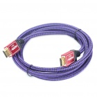 1080P V1.4 HDMI Male to Male Cable - Purple + Black (1.5M Length)