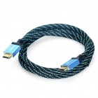 2160P HDMI 1.4 Male to Male 3D Connection Cable - Black + Blue (150cm-Cable)