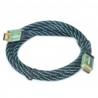 1080P V1.4 HDMI Male to Male Cable - Green + Black (1.5M Length)